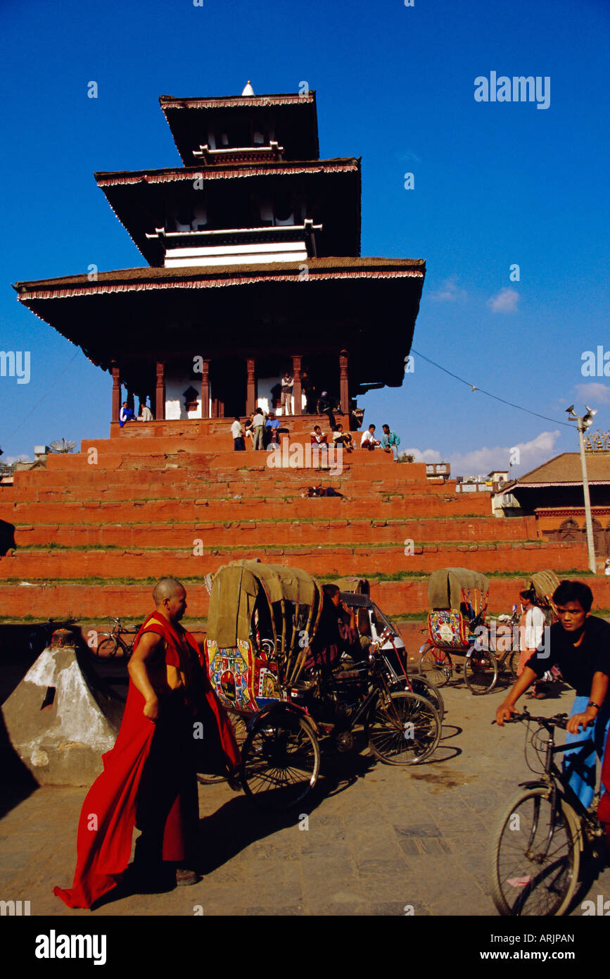 Maju Deval temple at Durbar Square, Katmandu, Nepal - Stock Image