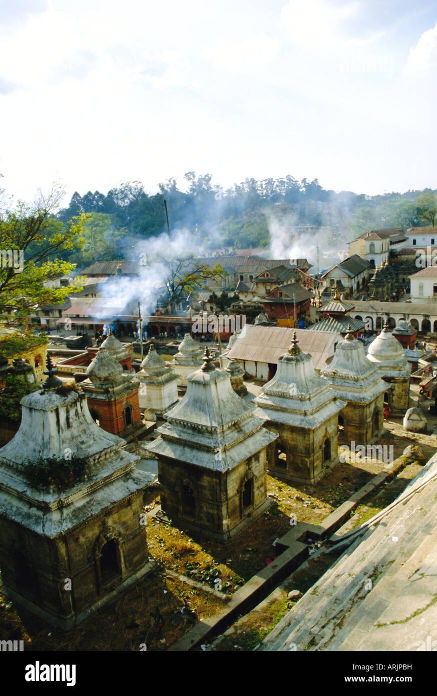 Hindu temples at Pashupatinath, Katmandu, Nepal - Stock Image