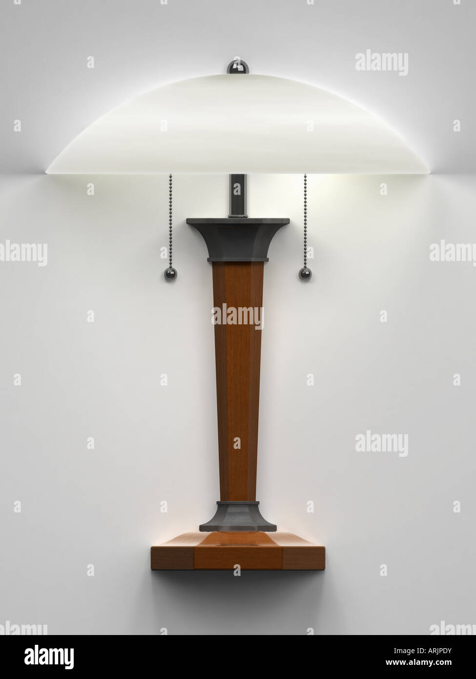 Table lamp on the wall Stock Photo