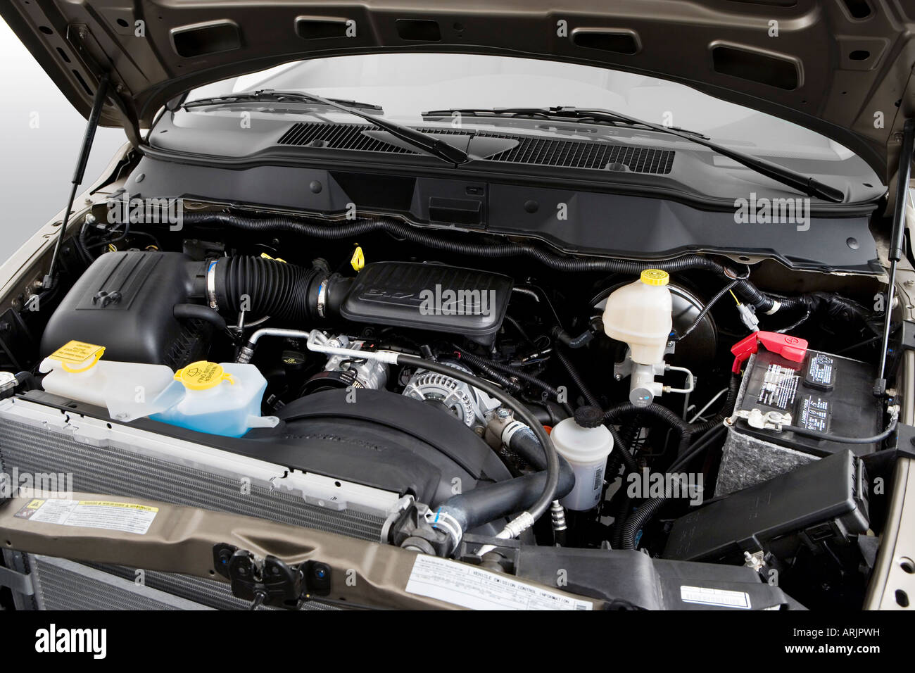 2012 Ram 1500 Engine Dodge In Beige Stock Photo Alamy 1300x956