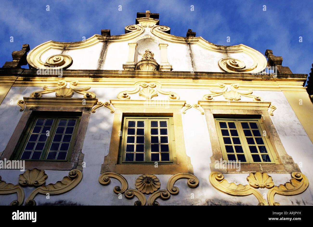 Baroque facade of the Convento Sao Francesco, Olinda, Per. Brazil, South America - Stock Image