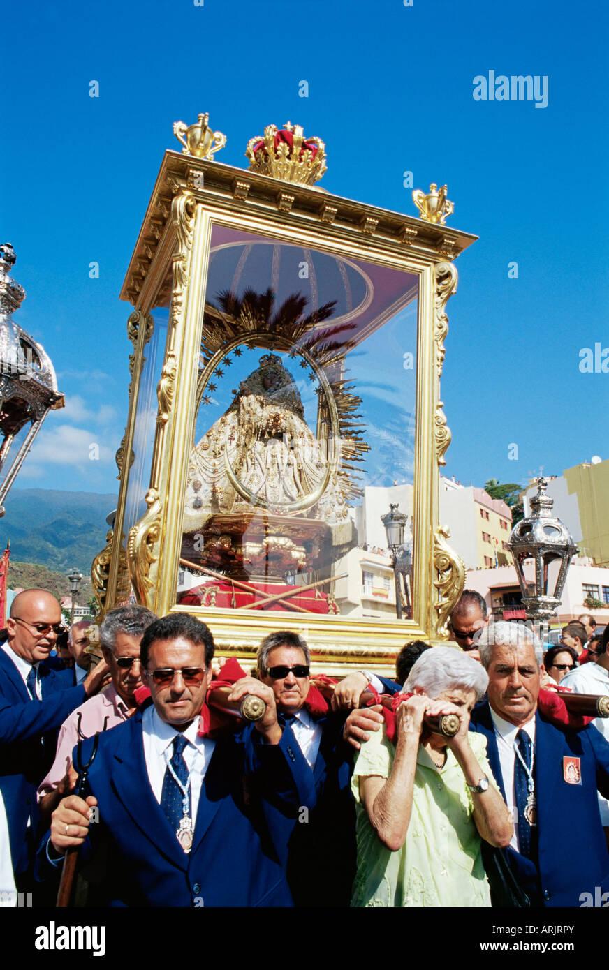 The Descent of Our Lady of Snows shrine, Santa Cruz de la Palma, La Palma, Canary Islands, Spain - Stock Image
