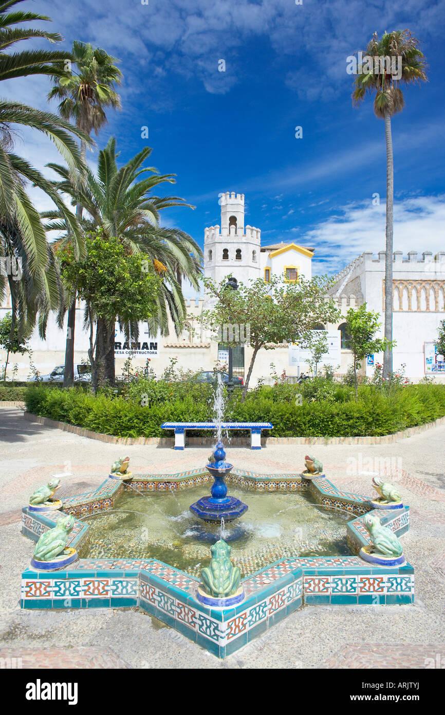 Plaza Santa Maria, Tarifa, Costa de la Luz, Cadiz Province, Andalucia (Andalusia), Spain, Europe Stock Photo