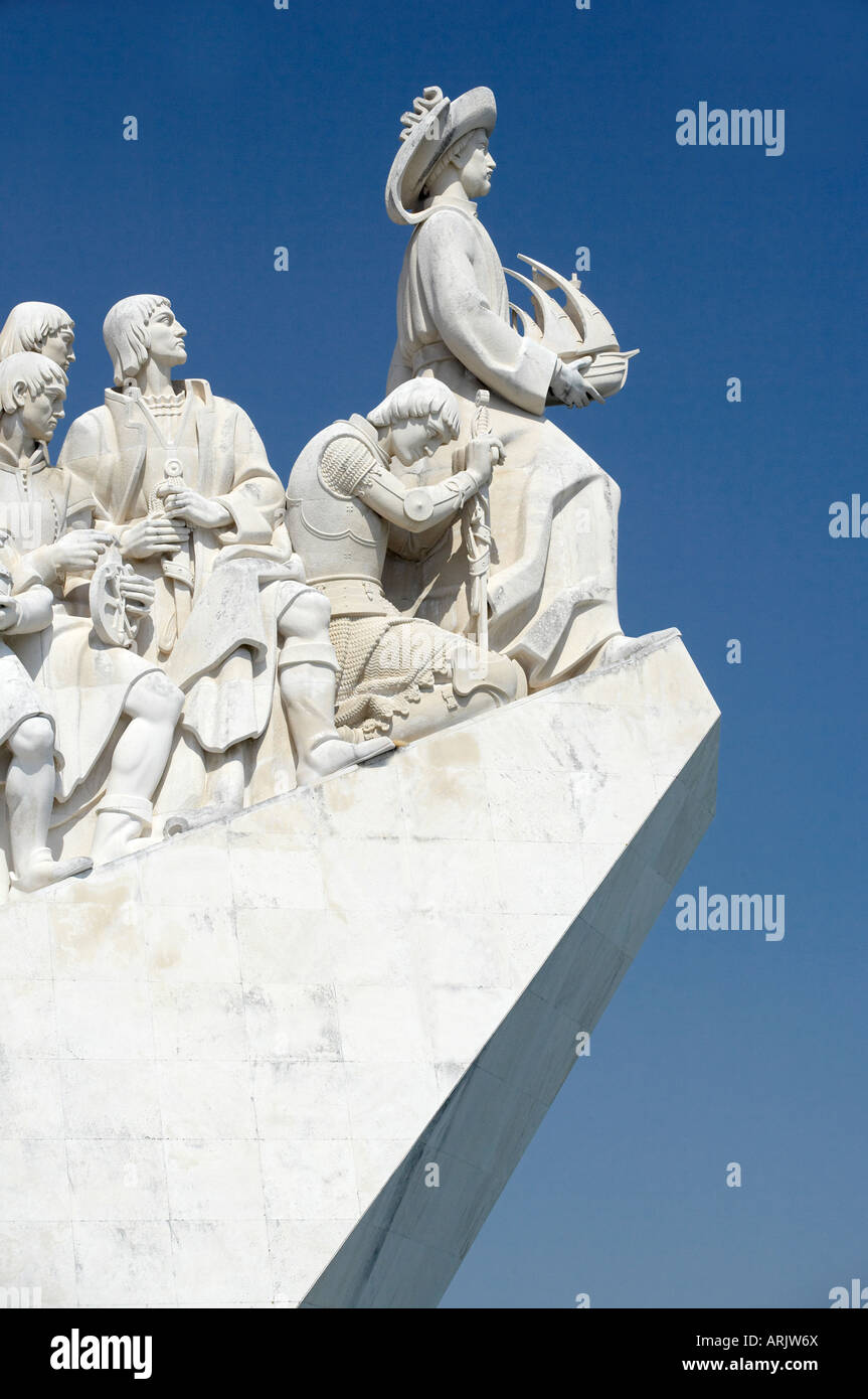 Monument to the Discoveries, Belem, Lisbon, Portugal, Europe - Stock Image