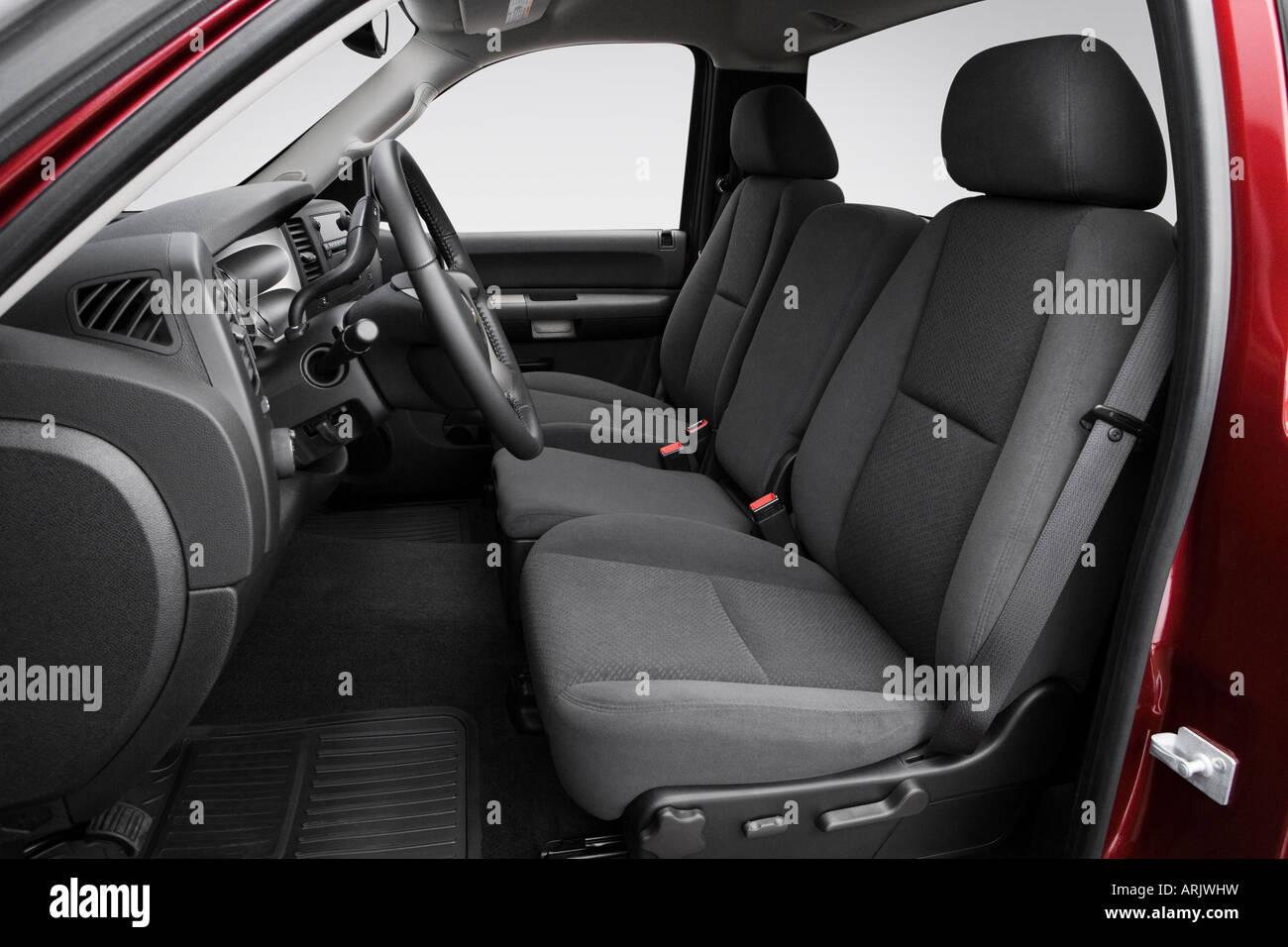2008 chevrolet silverado 1500 lt1 in red - front seats