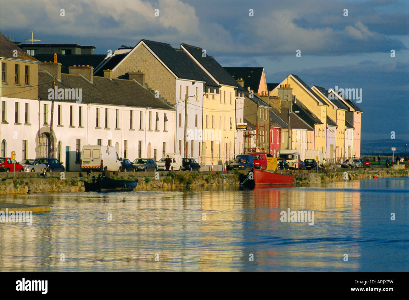 Long Walk view of Claddagh Quay, Galway Town, Co Galway, Ireland - Stock Image