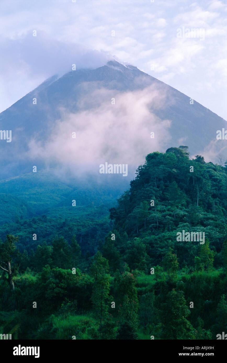 Merapi volcano, Yogyakarta region, Java, Indonesia - Stock Image