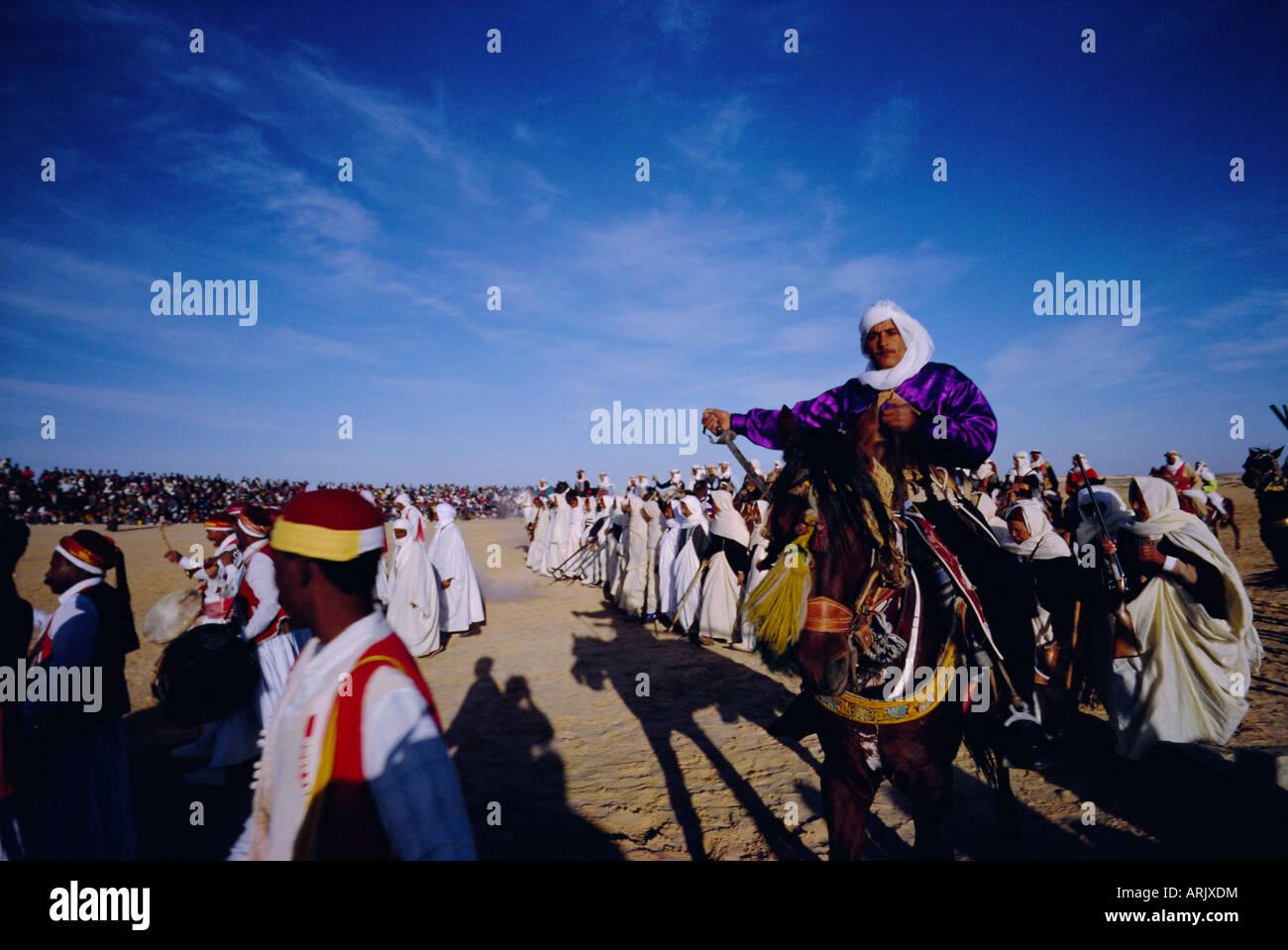Traditional berber wedding, Douz Oasis, Tunisia, North Africa Stock Photo