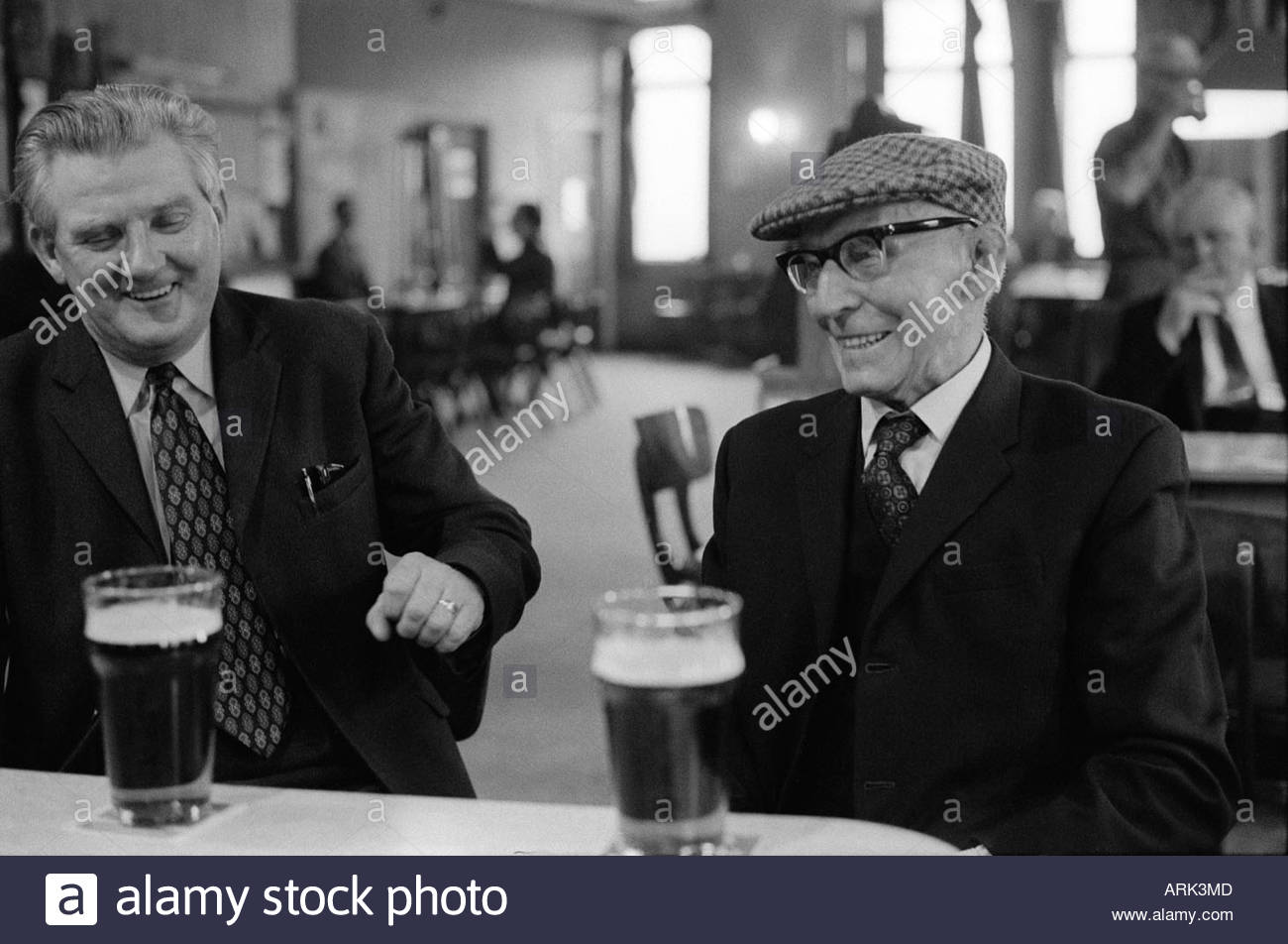 Byker St Peters Working Men's Social Club.  Newcastle upon Tyne, Tyne and Wear   1973. Sunday morning - Stock Image
