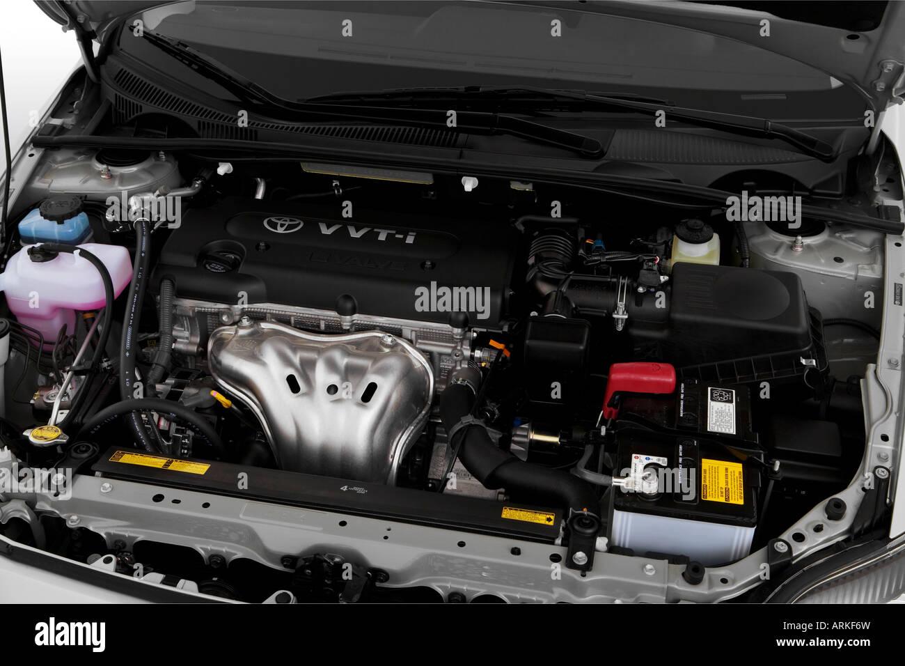 2008 Scion Tc In Silver Engine Stock Photo 16077120 Alamy