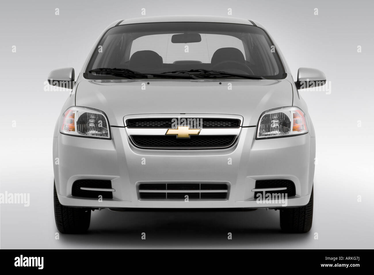 2008 Chevrolet Aveo Ls In Silver Low Wide Front Stock Photo Alamy