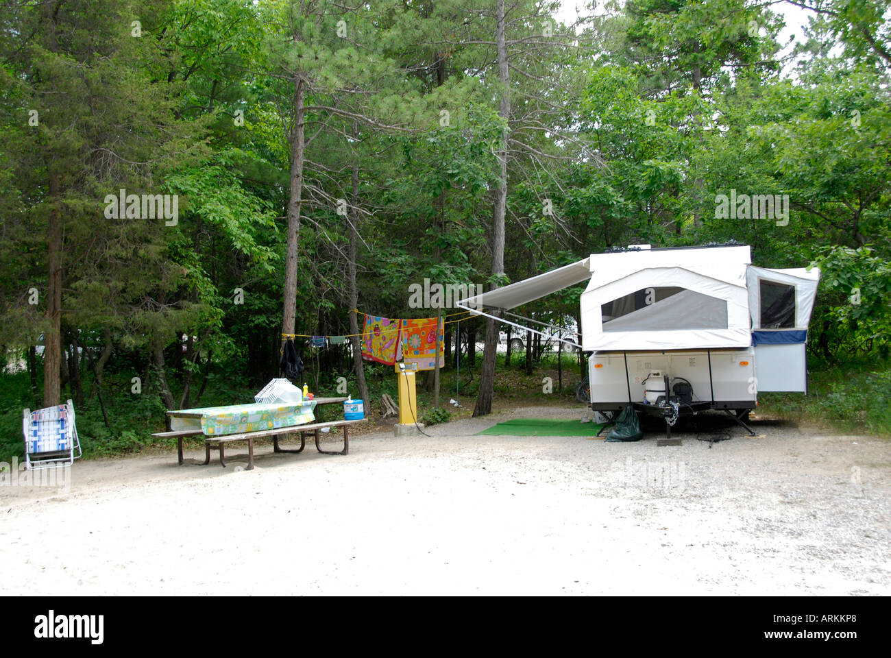 Camping at the Rifle River Recreational Area near Mio