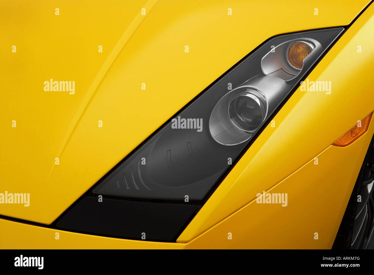 2008 Lamborghini Gallardo Superleggera In Yellow Headlight Stock