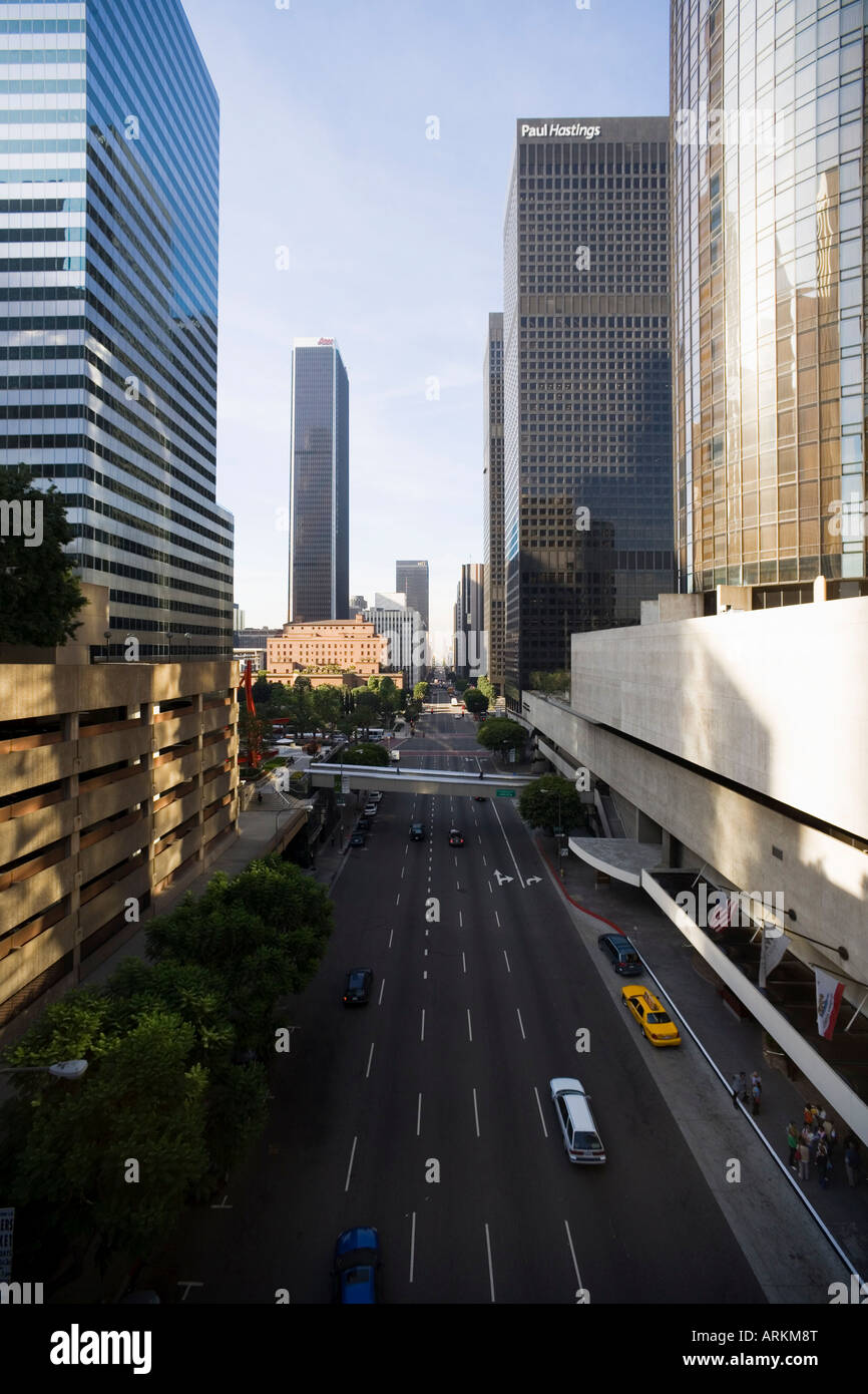 Flower Street, Downtown, Los Angeles, California, United States of America, North America - Stock Image
