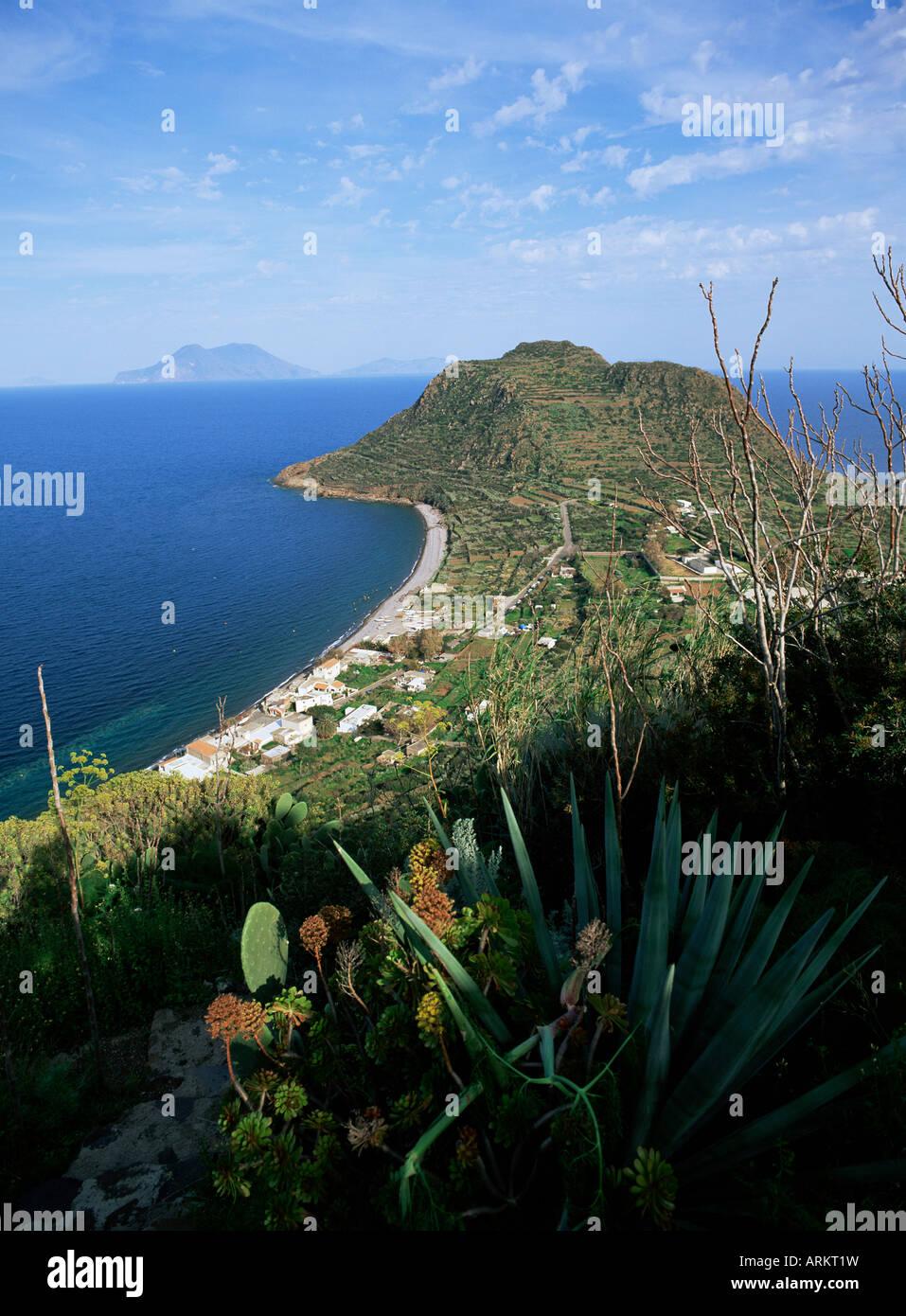 Island of Filicudi, Aeolian Islands (Eolian Islands) (Lipari Islands), UNESCO World Heritage Site, Italy, Europe Stock Photo
