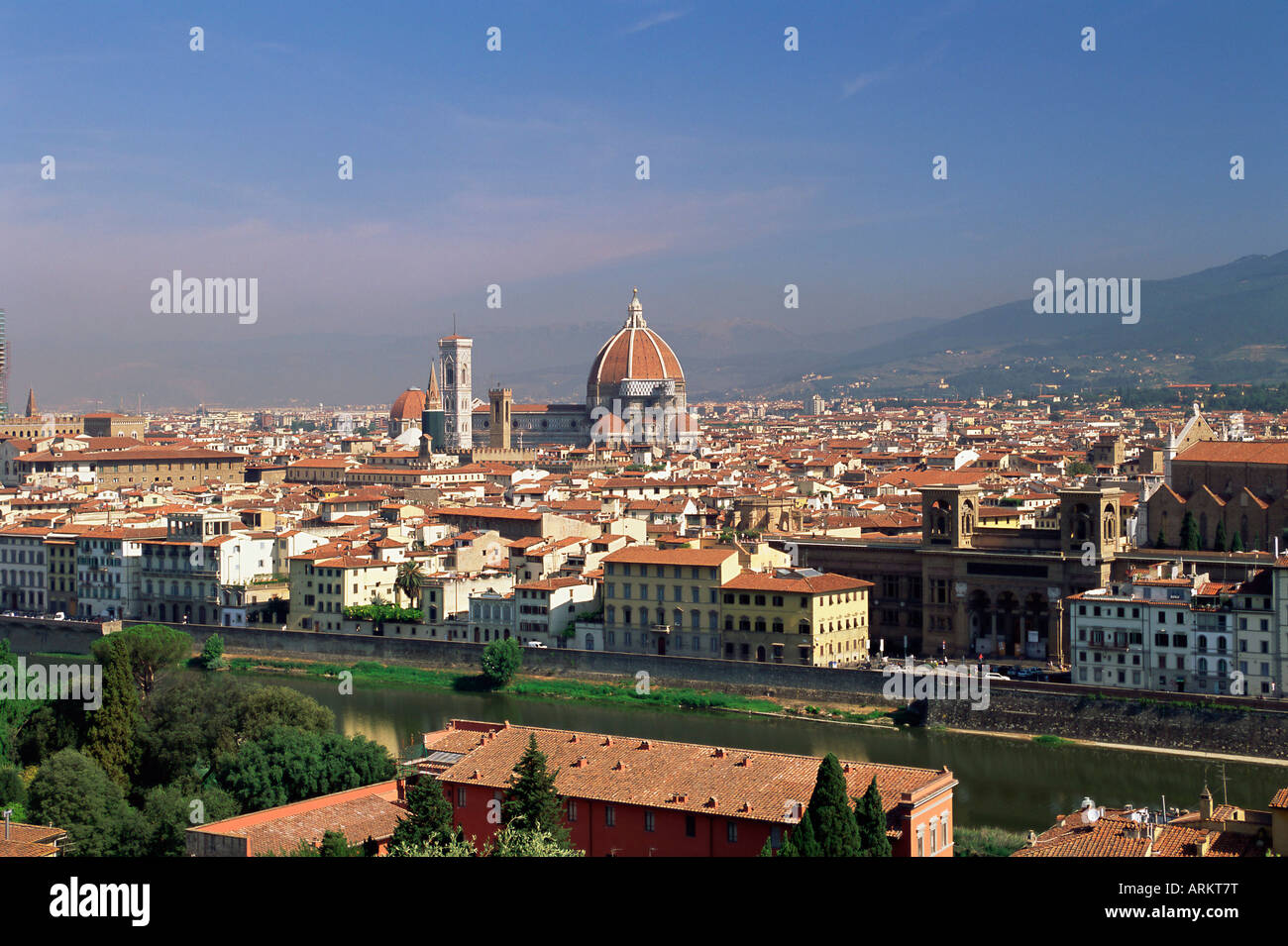 View over the city skyline, Florence, Tuscany, Italy, Europe - Stock Image