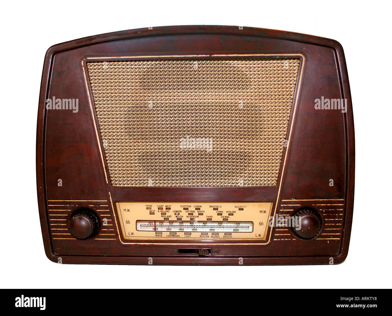 radio 1950s - Stock Image