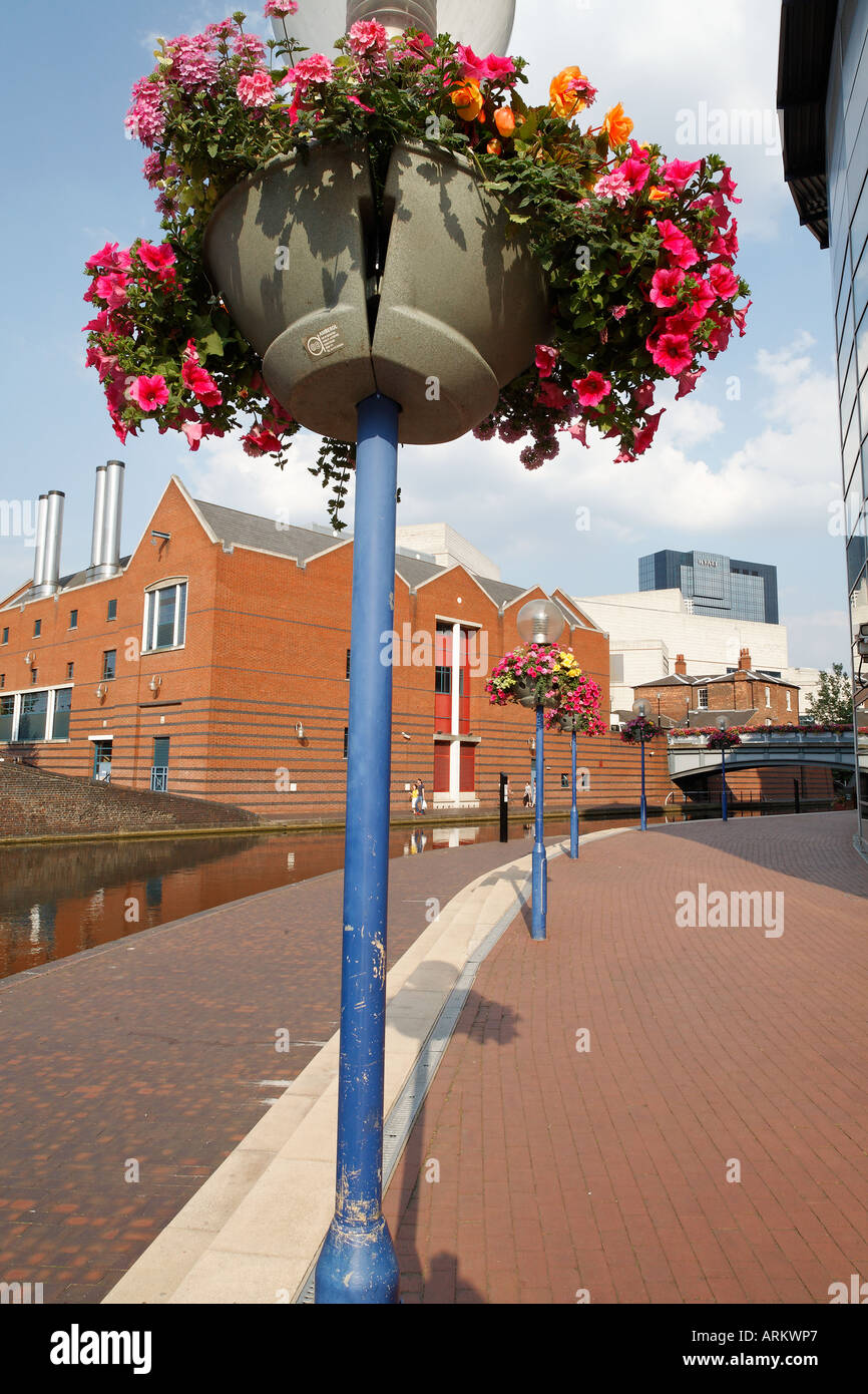 Birmingham city centre canals next to the National Sea Life Centre and Brindley Place West Midlands central England UK - Stock Image