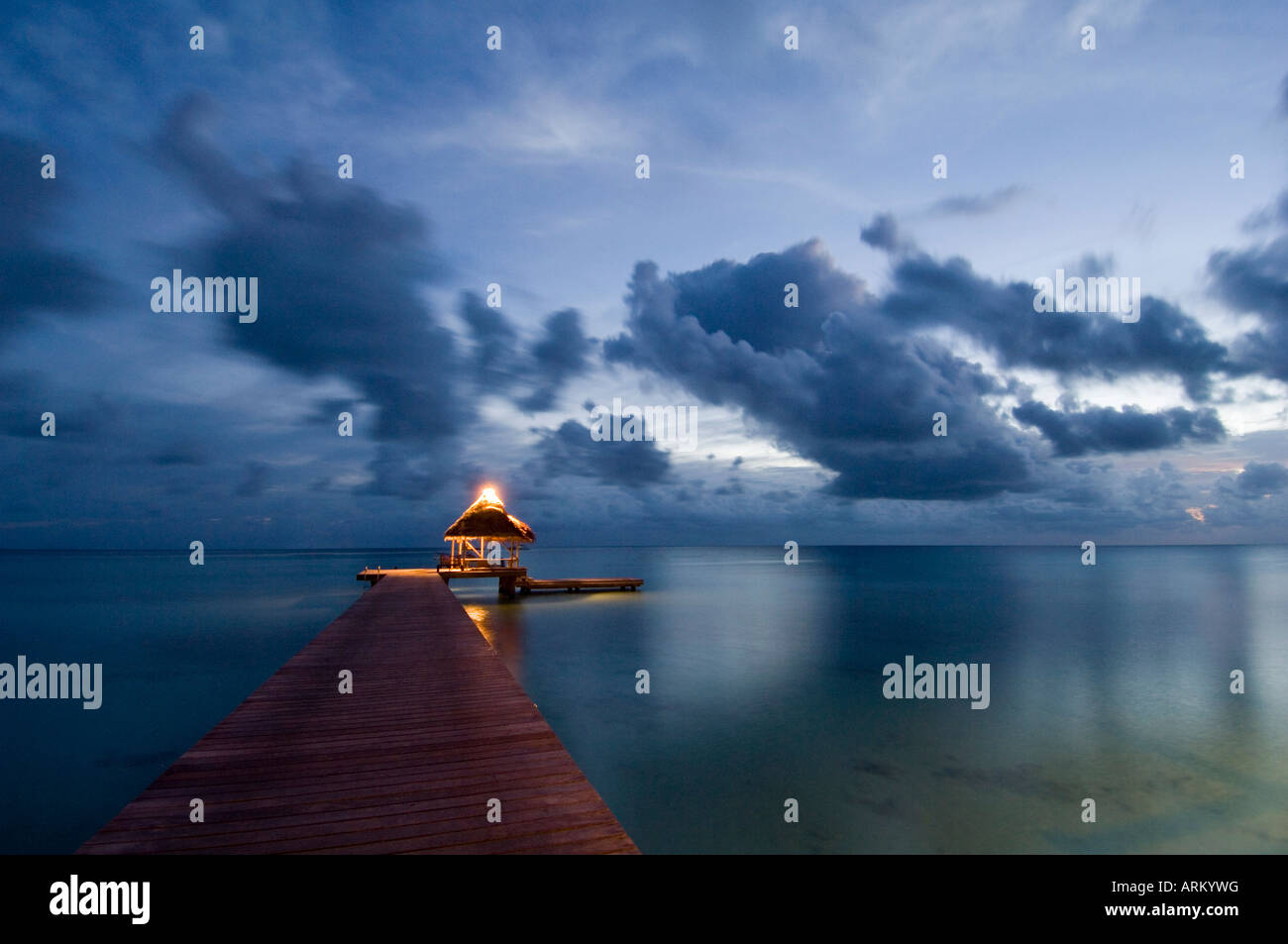 Kia Ora Resort, Rangiroa, Tuamotu Archipelago, French Polynesia, Pacific Islands, Pacific - Stock Image