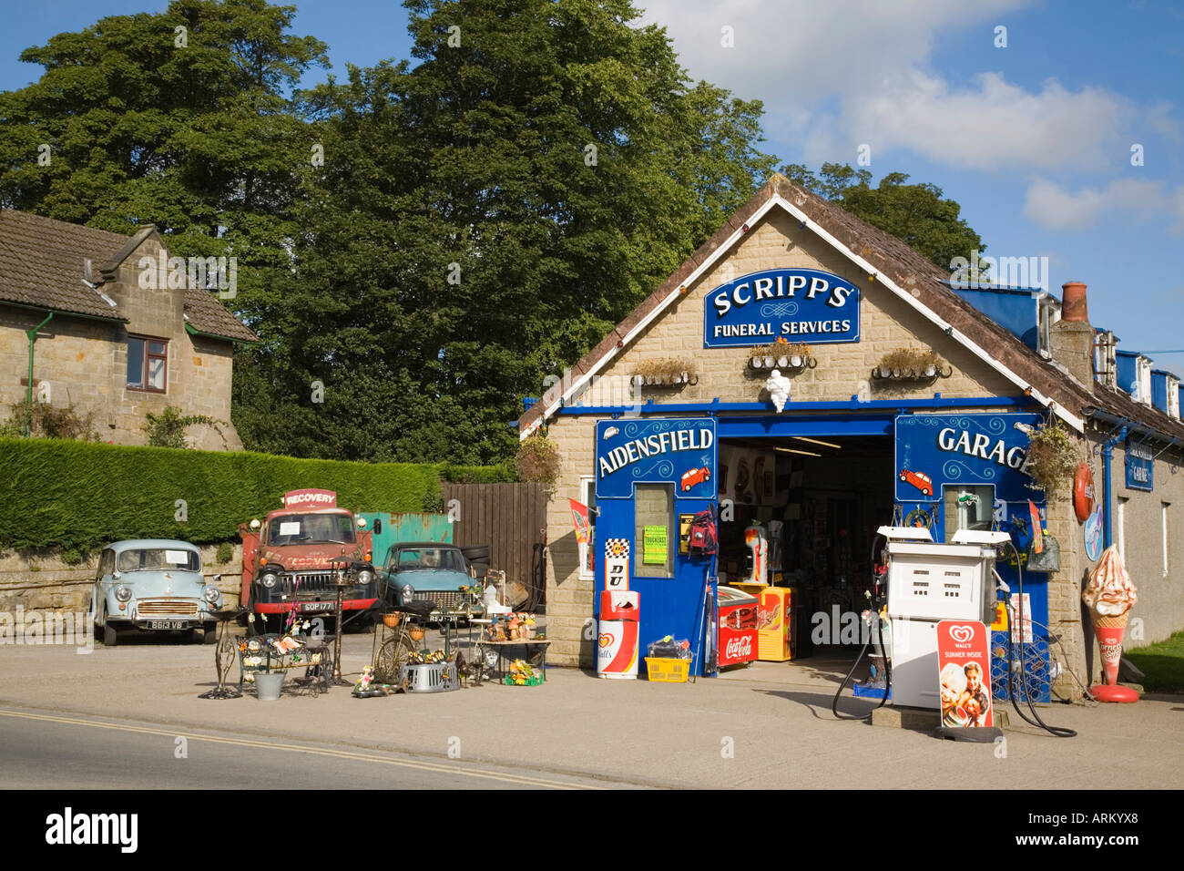 Aidensfield Village Garage And Scripps Funeral Services Setting For