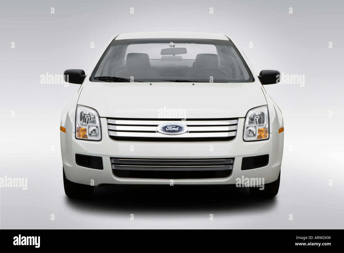 2008 Ford Fusion S in White - Low/Wide Front Stock Photo