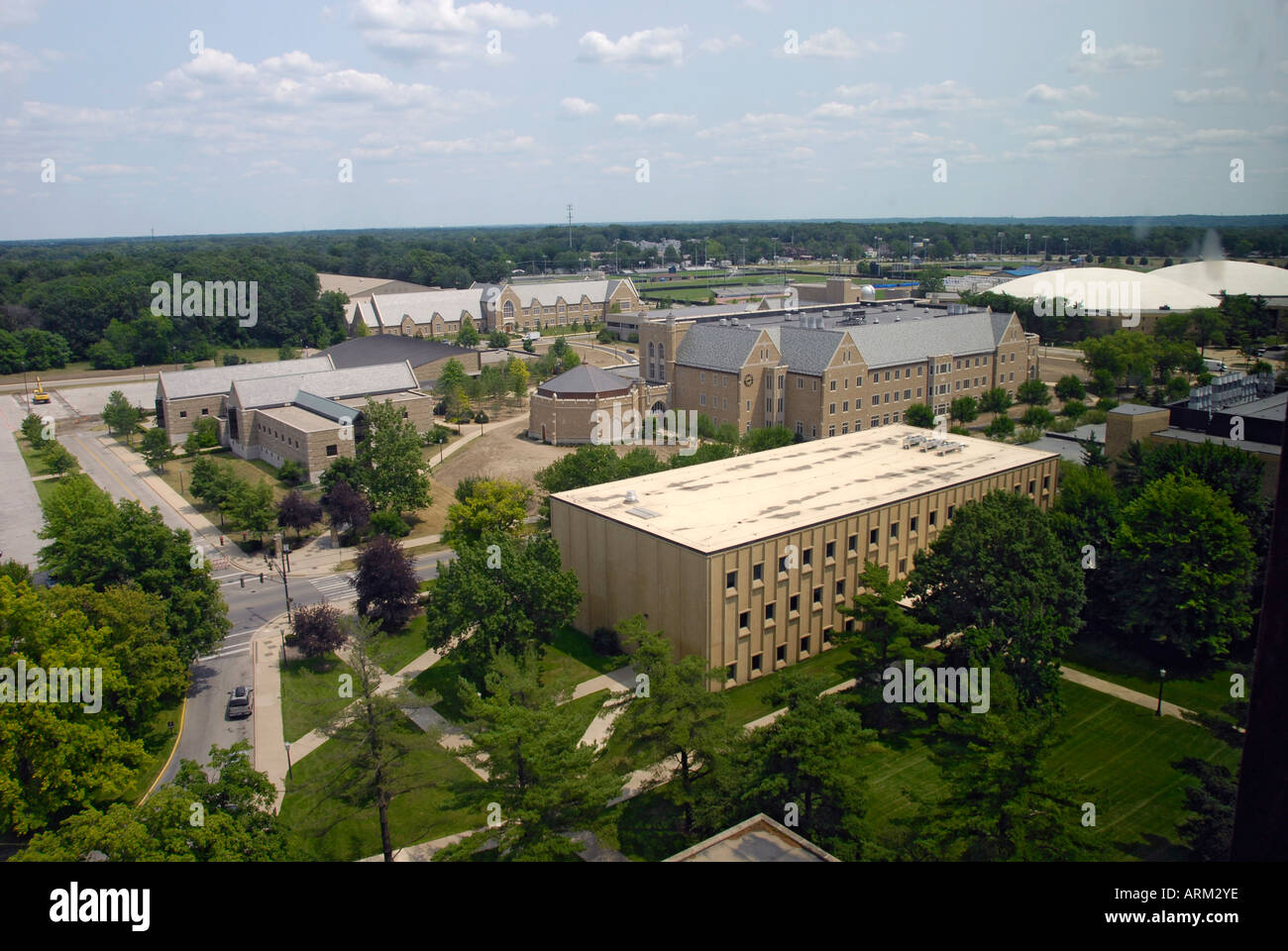 University of Notre Dame campus at South Bend Indiana IN - Stock Image