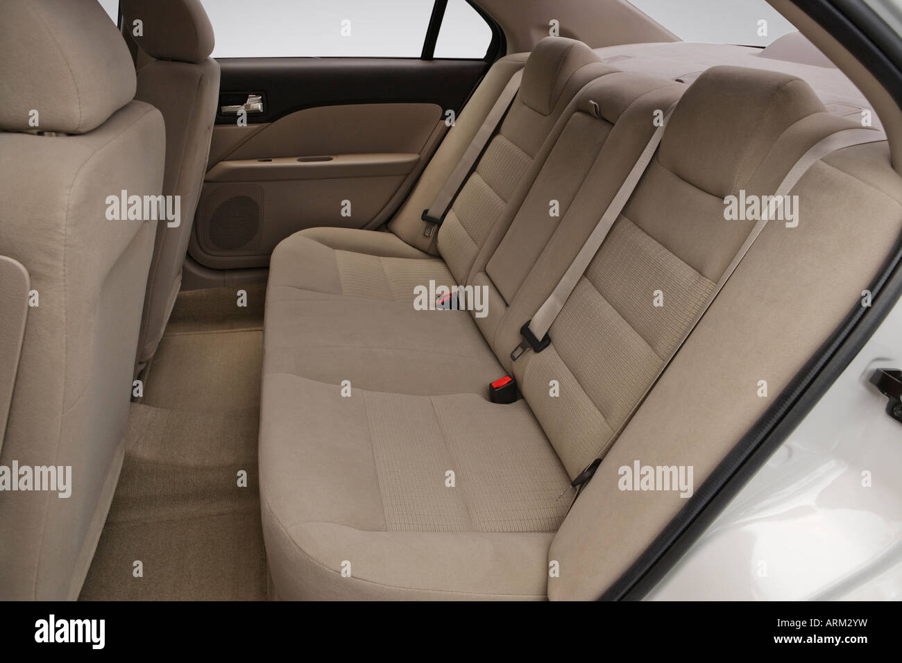 2008 Ford Fusion S in White - Rear seats - Stock Image
