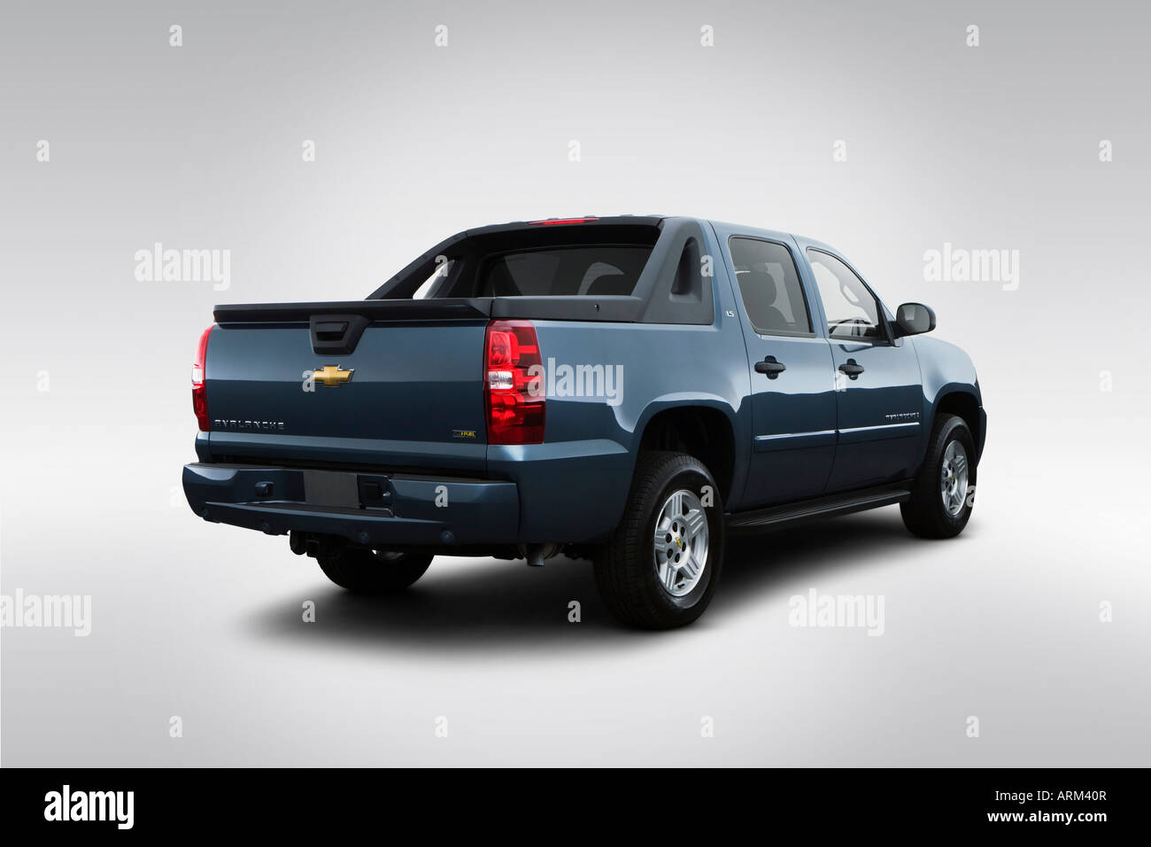 Avalanche 2008 chevrolet avalanche : 2008 Chevrolet Avalanche LS in Blue - Rear angle view Stock Photo ...