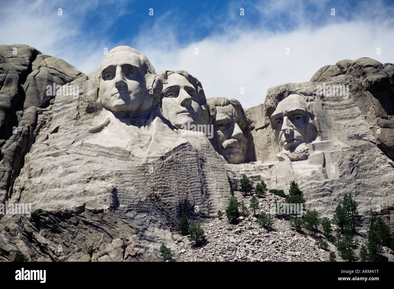 Mount Rushmore National Monument, Black Hills, South Dakota, United States of America, North America Stock Photo