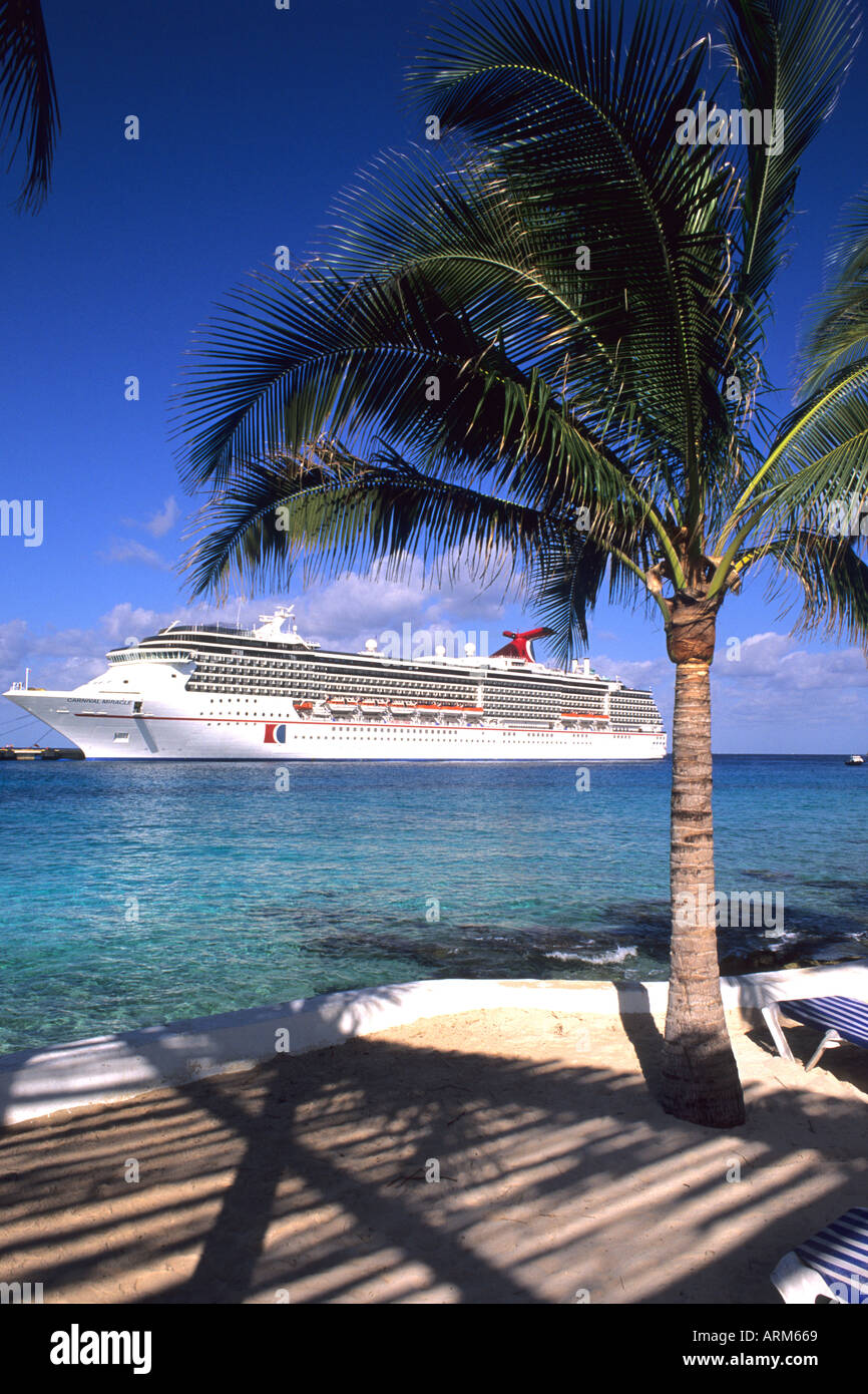 Carnival Cruise Ship At Cozumel Port In Mexico On The