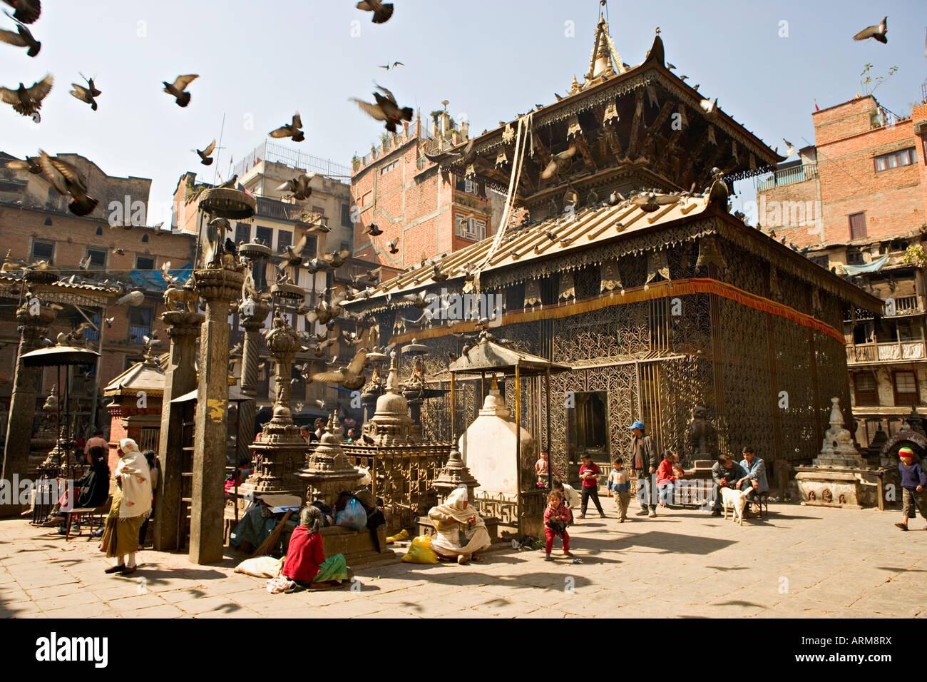 Seto Machendranath temple, close to Durbar Square, Kathmandu, Nepal - Stock Image