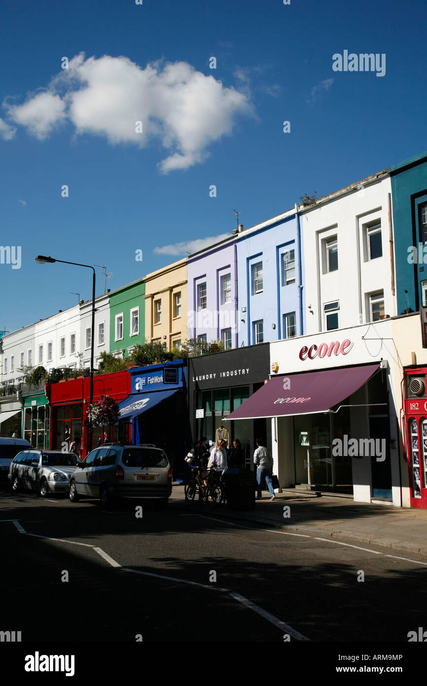 Westbourne Grove in Notting Hill, London - Stock Image