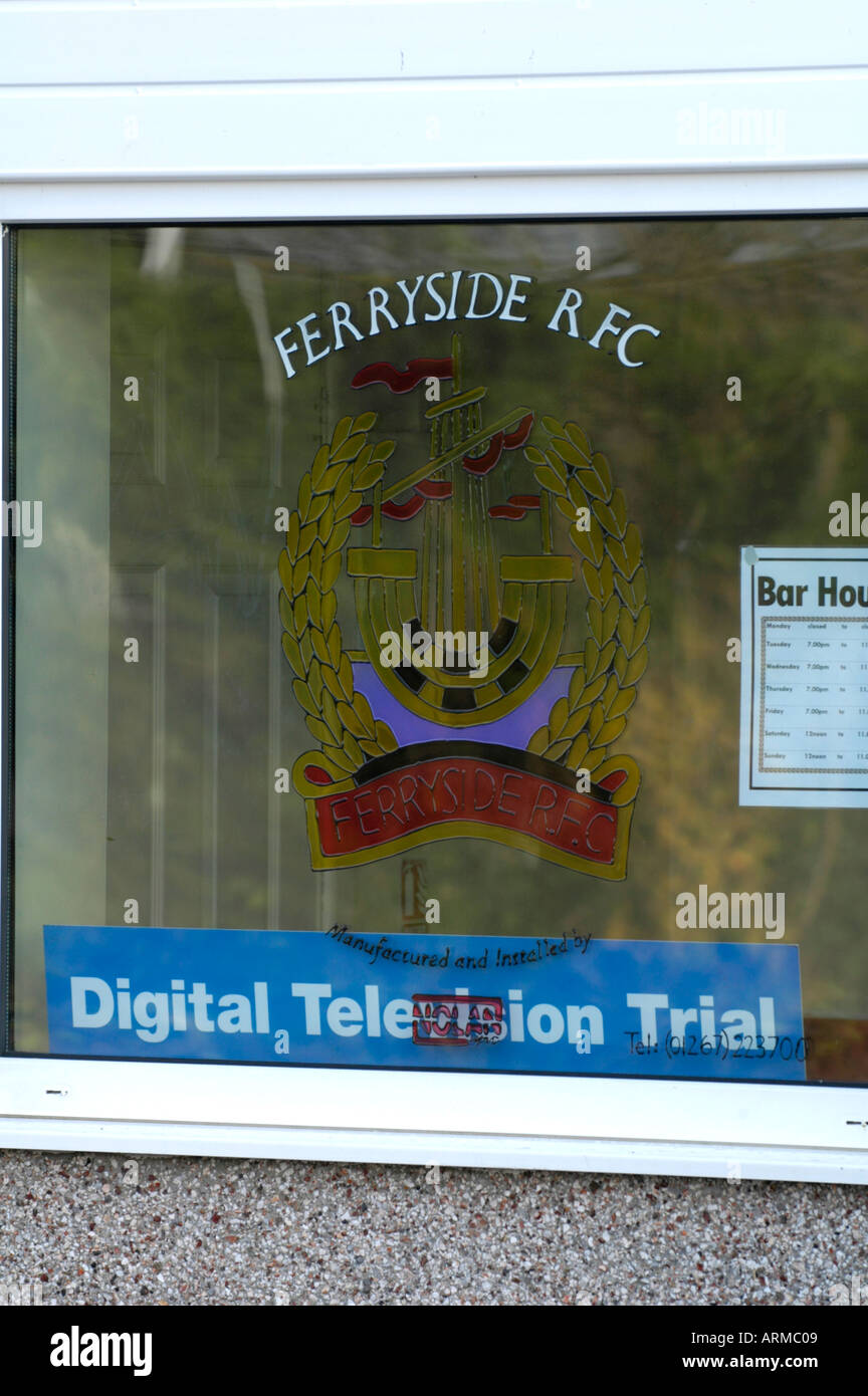The village of Ferryside Carmartheshire West Wales which is the test site for the UK digital television network trial - Stock Image