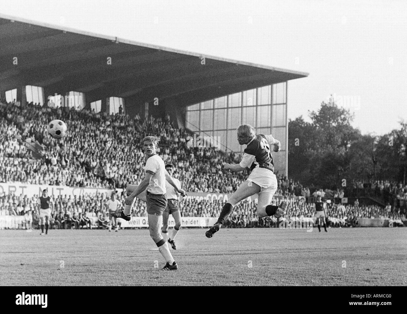 football, Regionalliga 1968/1969, promotion match to the Bundesliga 1969/1970, Rot-Weiss Essen versus Tasmania 1900 Stock Photo