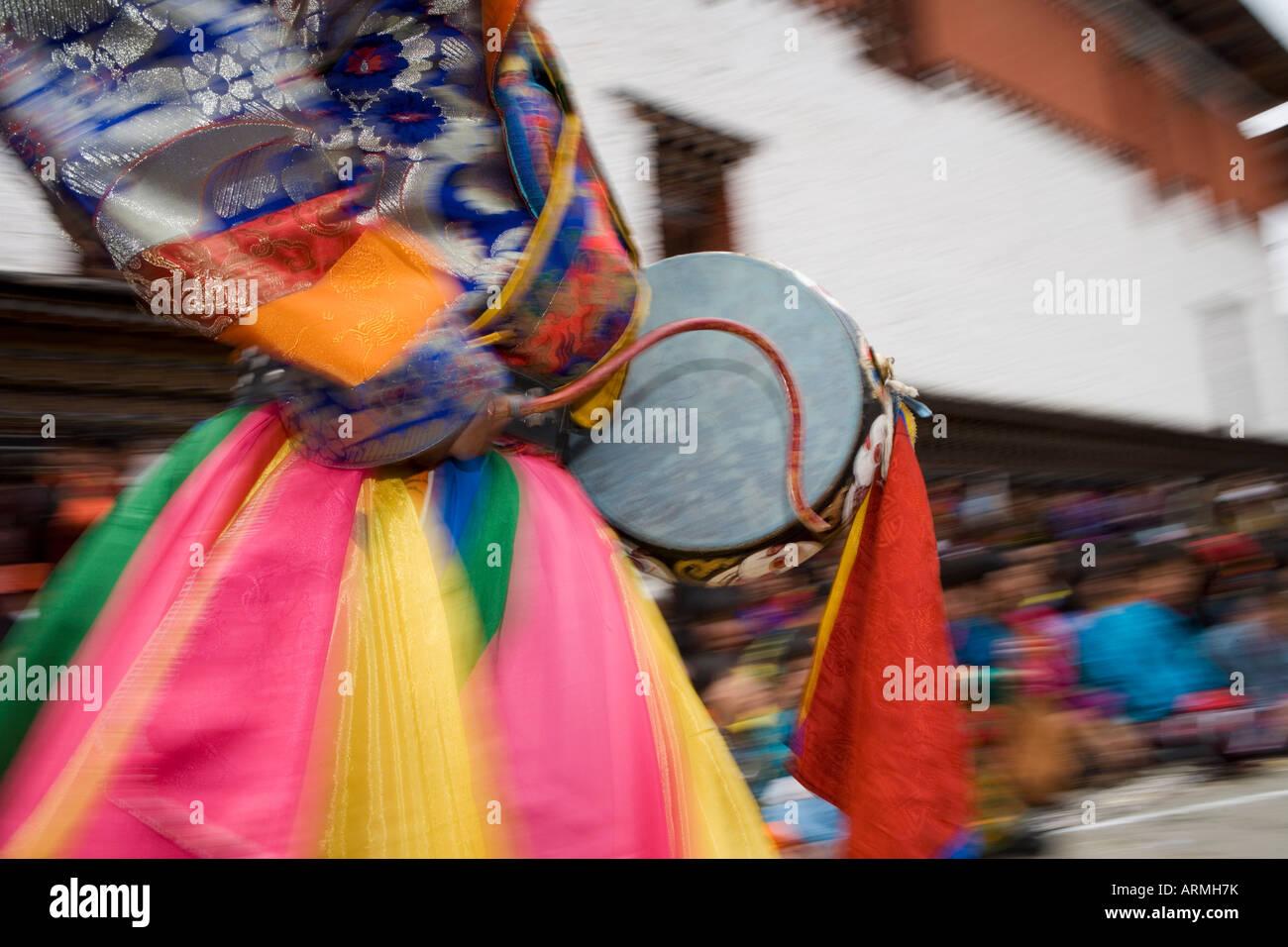 Buddhist festival (Tsechu), Trashi Chhoe Dzong, Thimphu, Bhutan, Asia Stock Photo