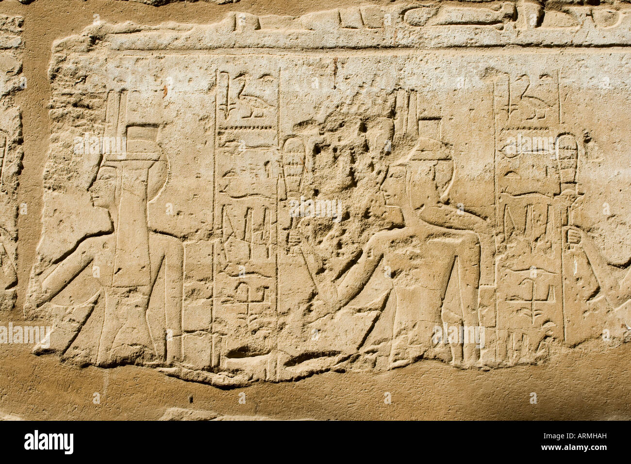 Hieroglyphs in the Luxor Temple - Stock Image
