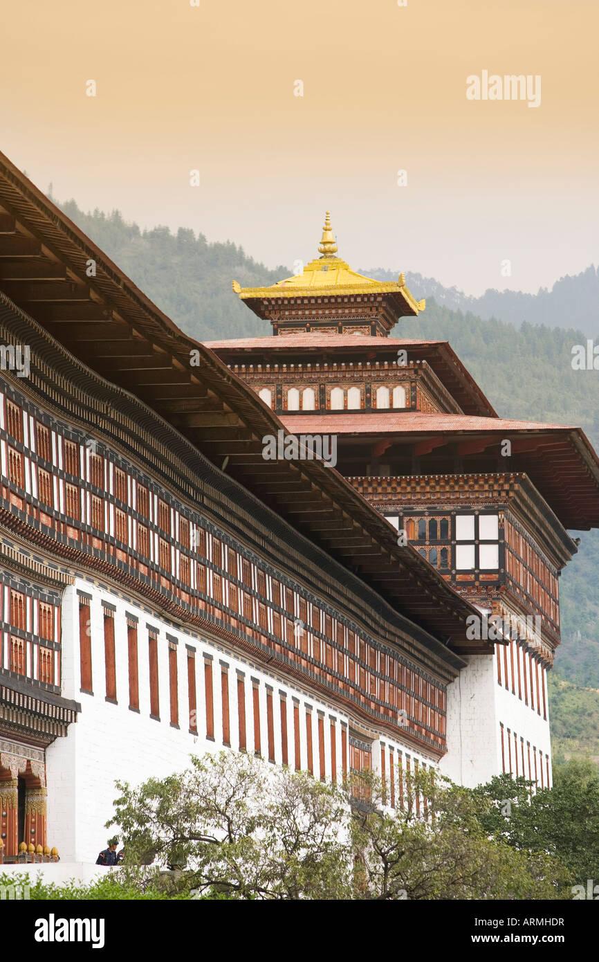 Trashi Chhoe Dzong, Thimphu, Bhutan, Asia Stock Photo