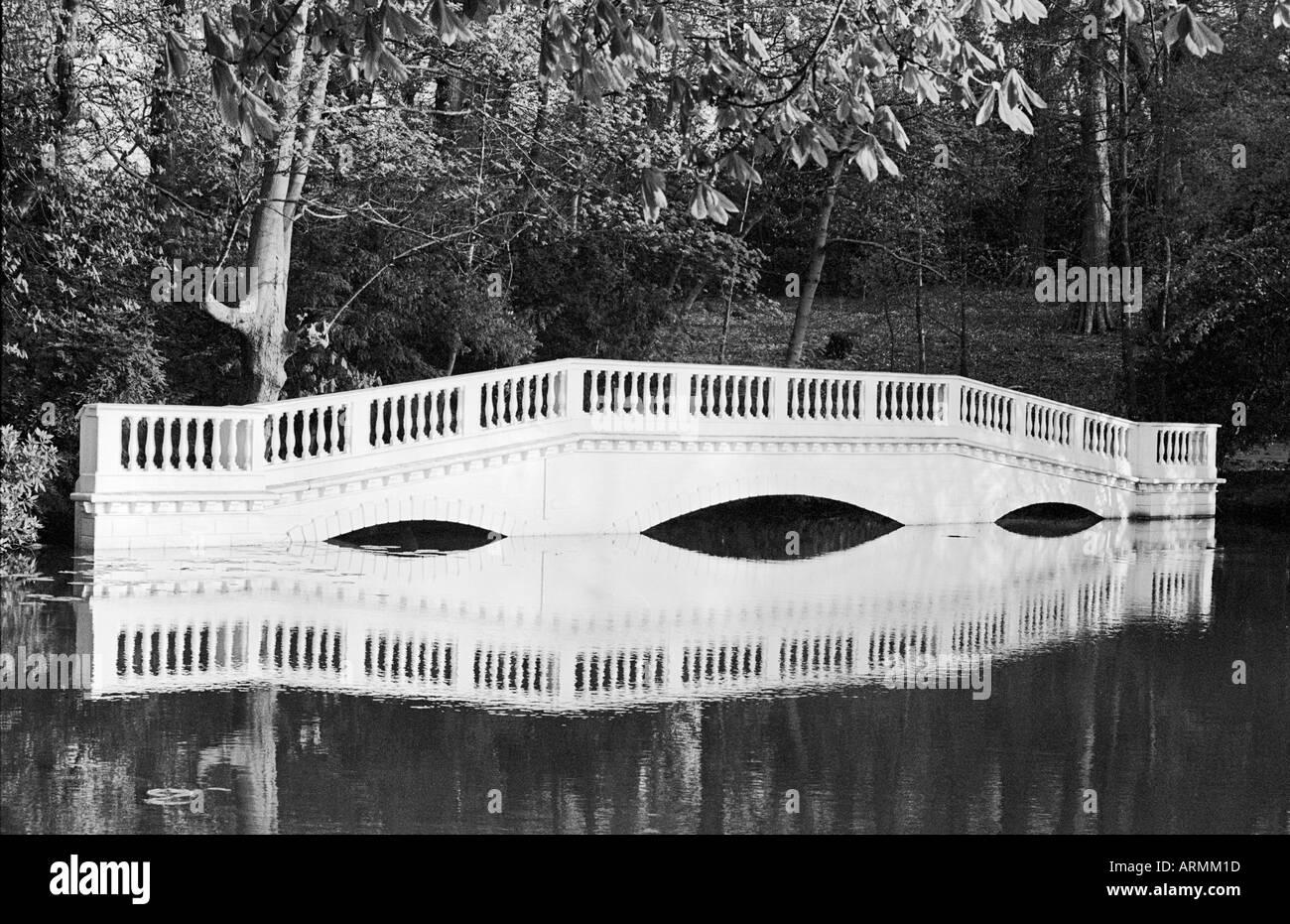 Kenwood Bridge on Hampstead Heath, London - Stock Image