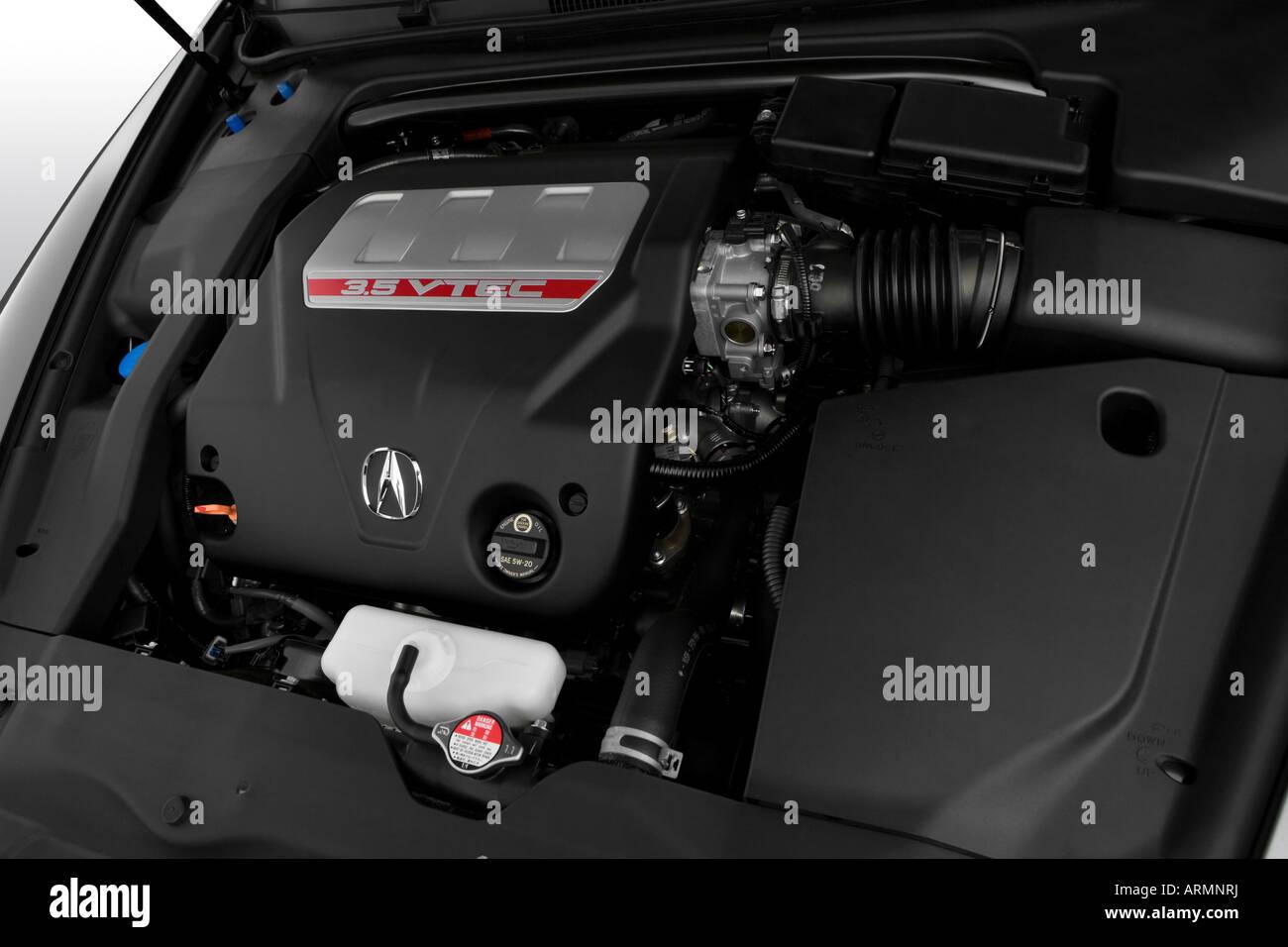2008 Acura Tl Type S In Beige Engine Stock Photo Alamy