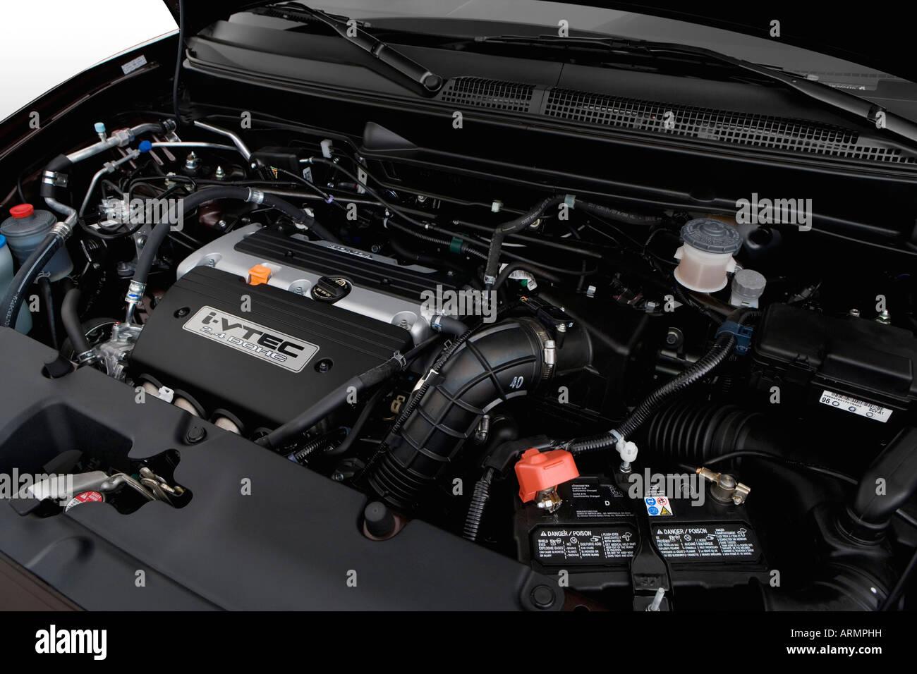 2008 Honda Element SC In Beige   Engine   Stock Image