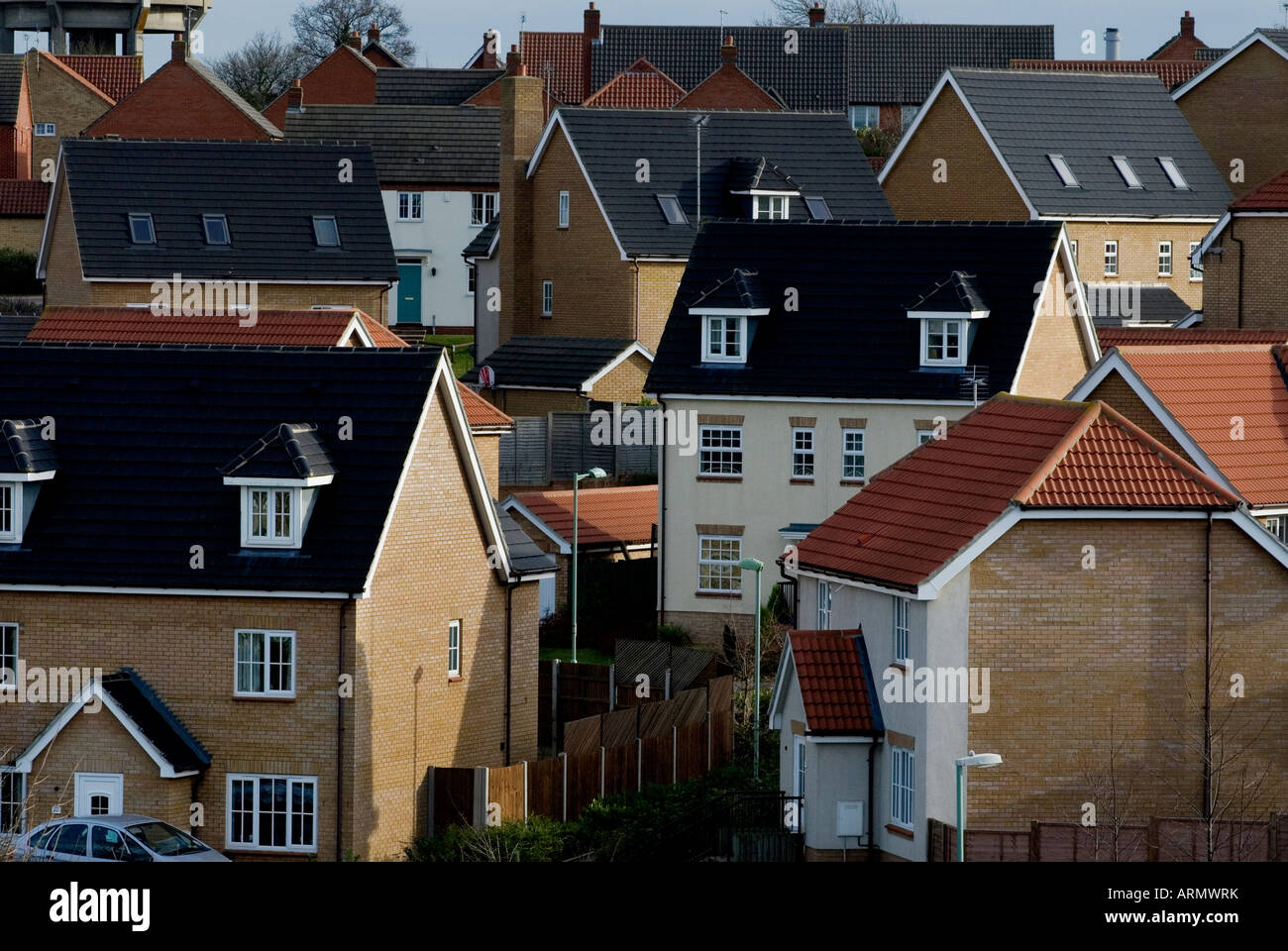 Newhousing modern homes houses estate housing stock image