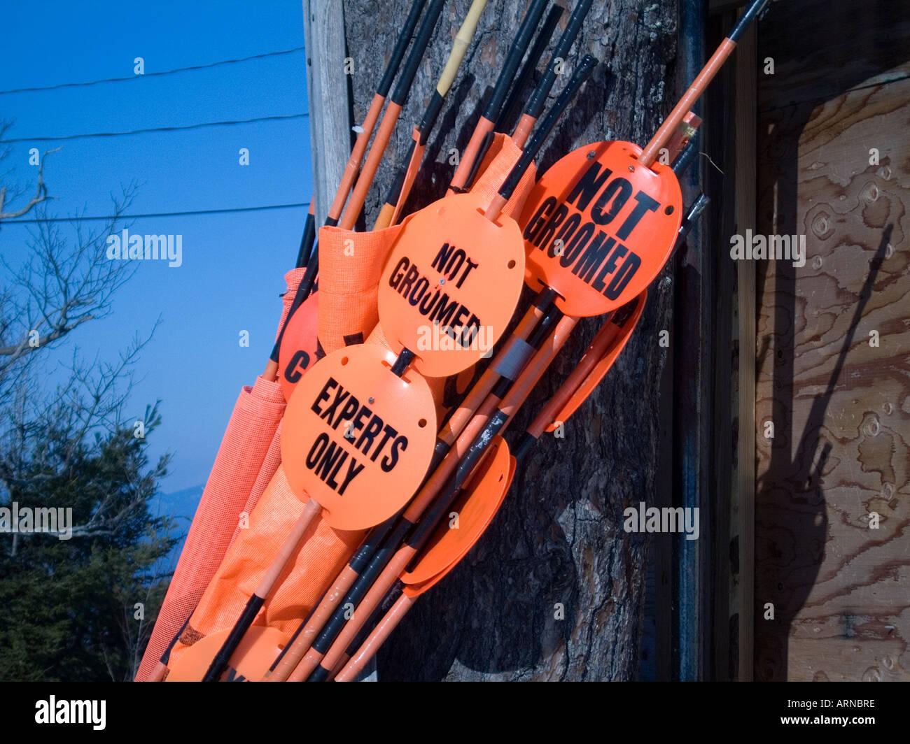 Ski Trail makers Stock Photo