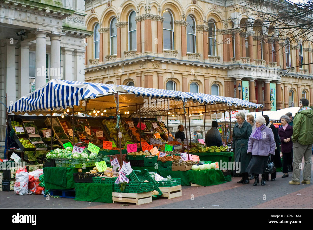 Ipswich Market day - Stock Image