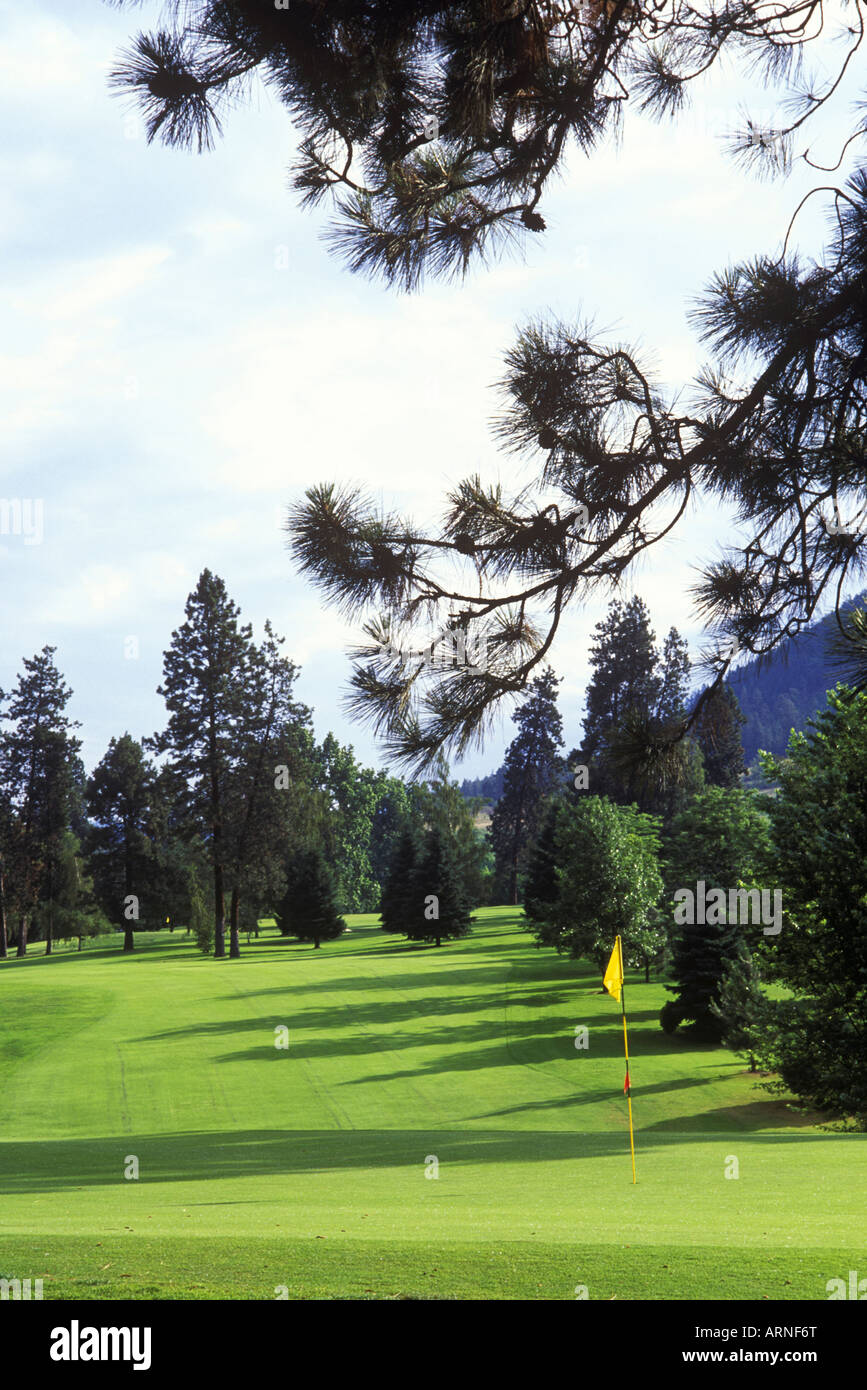 Okanagan, Kelowna, golf course fairway, British Columbia, Canada. - Stock Image