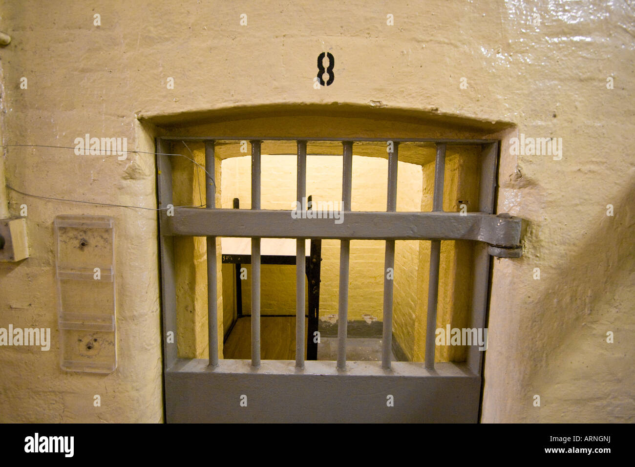 Cells and Cellblock in Victoria Prison Hong Kong - Stock Image