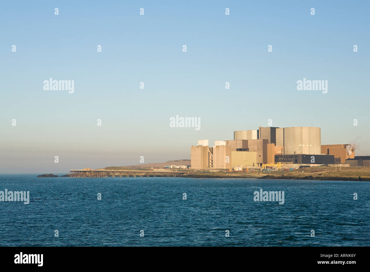Wylfa Nuclear Power Station, Anglesey, Wales - Stock Image
