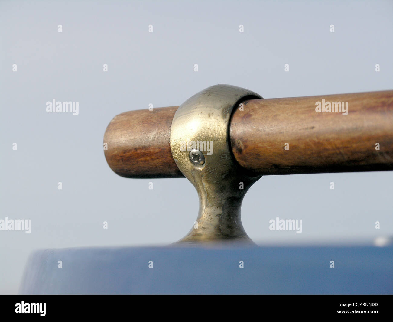 Handrail in brass fitting - Stock Image