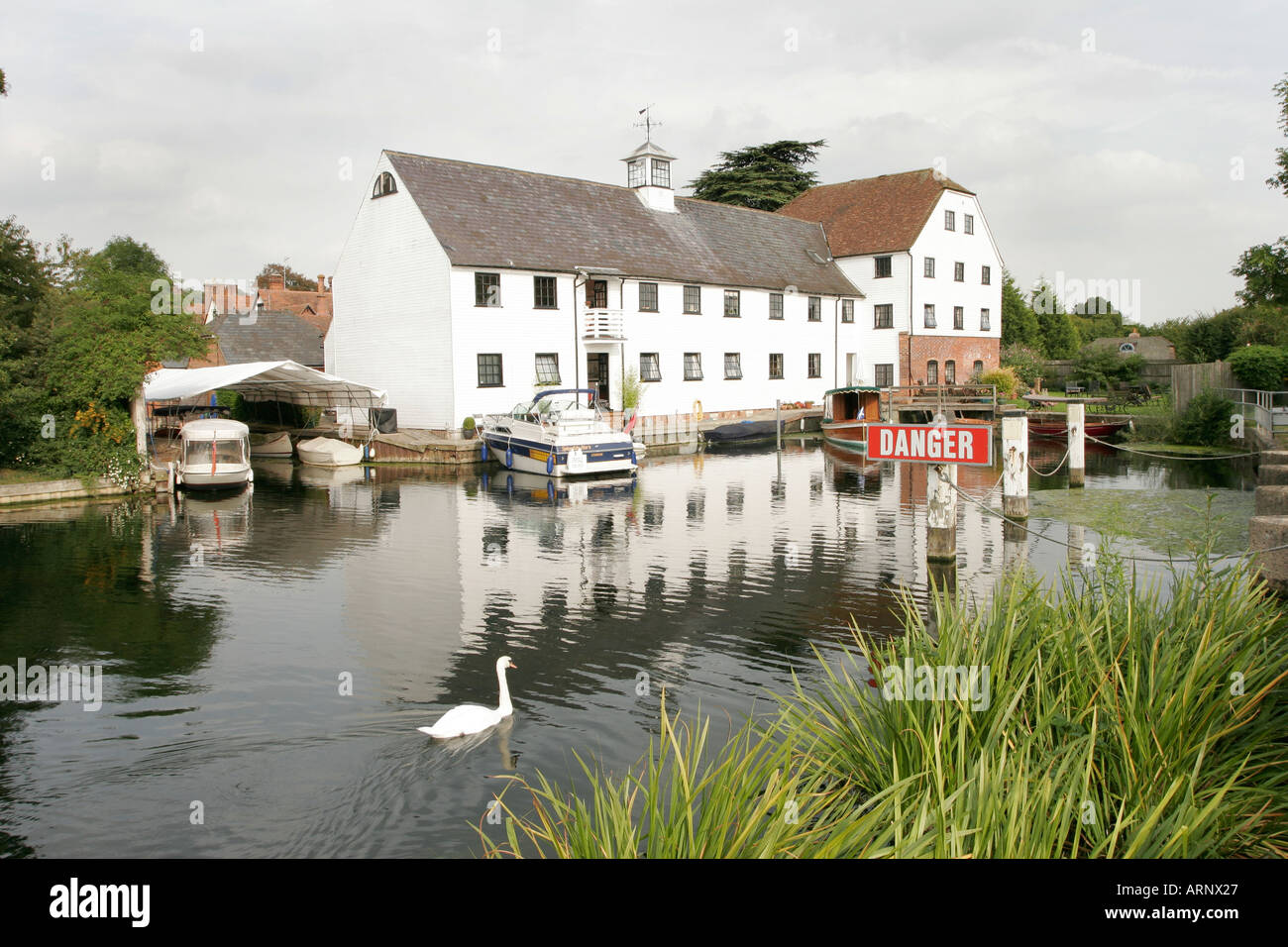 Hambleden Mill at Hambleden Lock on the River Thames in England Stock Photo