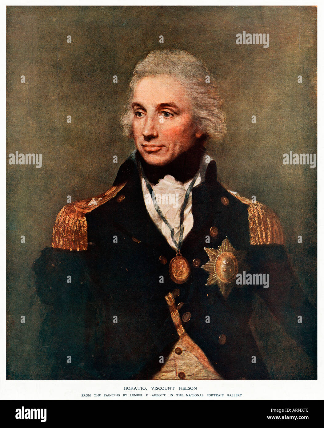Admiral Lord Nelson Englands Naval Hero In The Famous Portrait By Lemuel F Abbott