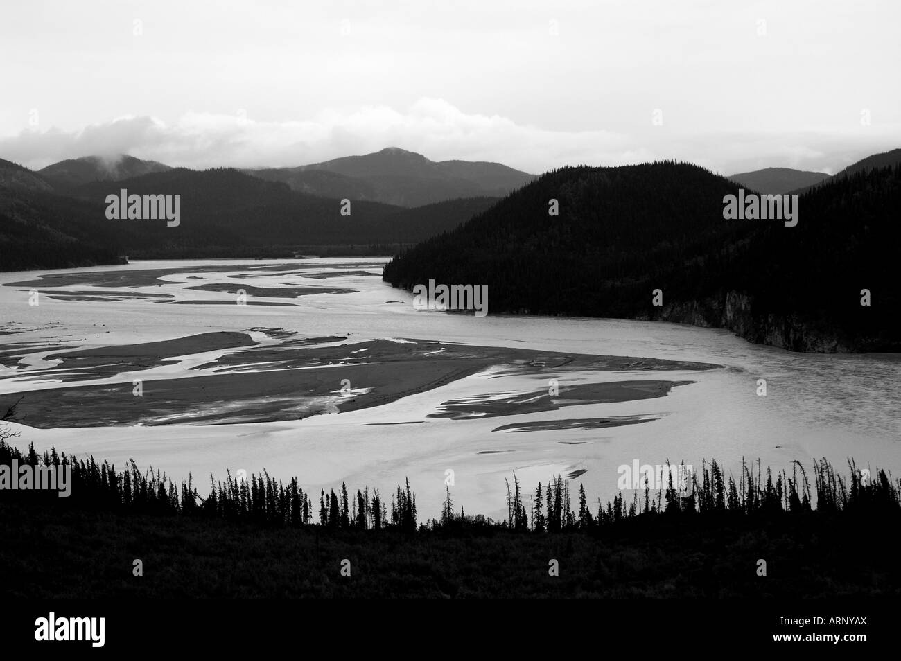 The mighty Copper River. Wrangell - St. Elias National Park, Alaska. - Stock Image